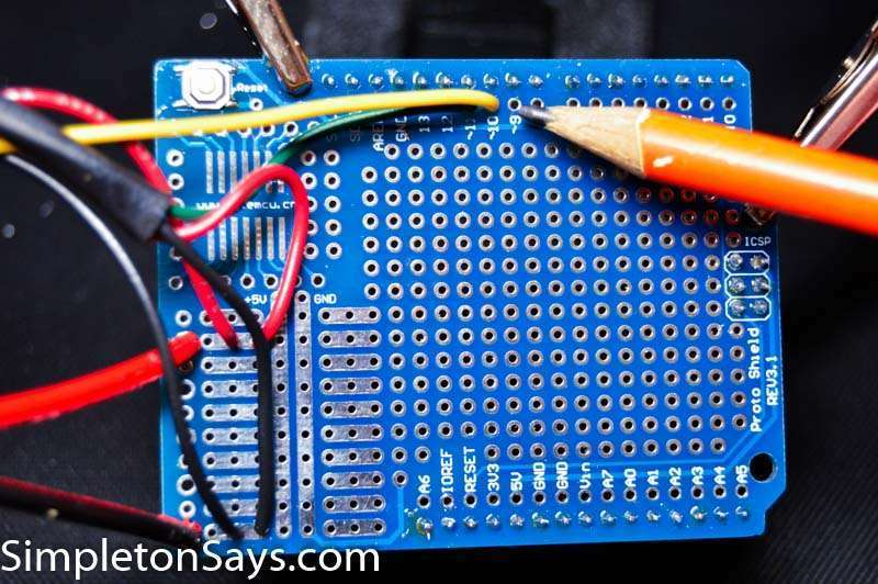 Solder set of wires to Arduino Proto board