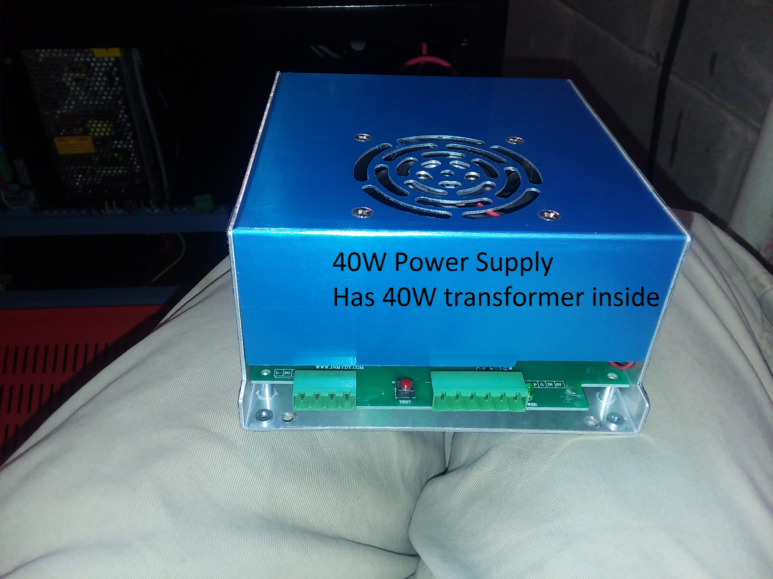 Undersized power supply in chinese 60W Laser